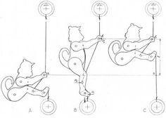 Обезьяна-акробат. Динамическая игрушка