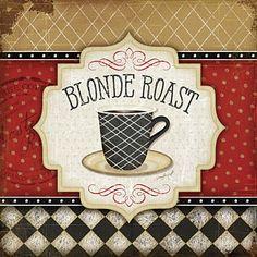 Coffee Painting - Blonde Roast by Jennifer Pugh