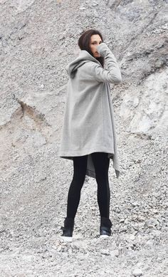 eec5885798e Extravagant à capuche Cardigan en cachemire   manteau Poches sur les cotés   ) Votre nouveau