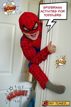 Looking for fun Spiderman activities for toddlers? Or maybe you're planning a birthday party for your little one and not quite sure what theme to go with? You could plan so many activities around a Spiderman theme, Spider Man Party, Fête Spider Man, Spider Webs, Birthday Activities, Birthday Party Games, Man Birthday, Toddler Activities, Birthday Ideas, Spiderman Craft