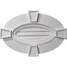 Ekena Millwork in. x 29 in. x 20 in. Functional Horizontal Oval Gable Vent with Keystones, Primed Gable Trim, Gable Roof, Attic Vents, Gable Vents, Panel Moulding, Refinish Kitchen Cabinets, Ceiling Medallions, Roof Design