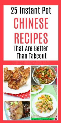 These instant pot Chinese recipes are 25 ways your Instant Pot can make tonight's dinner super easy. These recipes are better and fast than Chinese takeout! HOW TO MAKE INSTANT POT CHINESE RECIPES AT HOME Chinese food takeout menus may be your go-to on bu Instant Pot Chinese Recipes, Instant Pot Dinner Recipes, Instant Recipes, Simple Chinese Recipes, Recipes Dinner, Drink Recipes, Dinner Ideas, Dessert Recipes, Slow Cooker Recipes