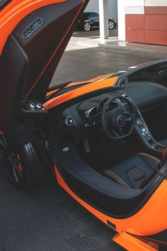 ♂ Orange car black interiors #car #wheels