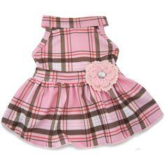$16.99 Pink Plaid School Girl Dress. Size small.