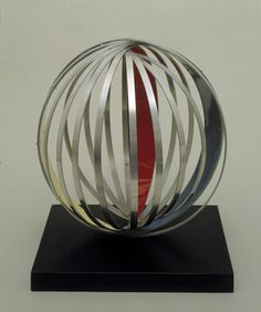 Sphere with Inside and Outside Colour, Aluminium with colour, 1967 (BH 445, 6 were cast)