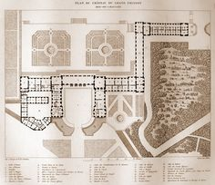 Plans of the Grand Trianon, Versailles - 1687 Jules Hardouin Mansart
