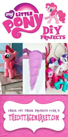 My Little Pony DIY Projects...Simply FABULOUS ...costumes...jewelry...plushies...even a unicorn horn!  Check them out!  All have complete tutorial DIY's