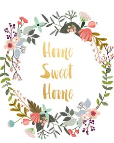 Art Digital Print Poster Home Sweet Home by PaperStormPrints