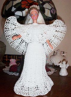 crocheted bridal dress...reminds you of an angel