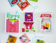 Miten olisi, jos tänä vuonna lähettäisitkin herkkua kortin sijaan?     Taittelin paperista yksinkertaisen kansion, jonka väliin voi su... Moomin, Happy Holidays, Diy Gifts, Advent Calendar, Merry, Holiday Decor, Home Decor, Decoration Home, Room Decor