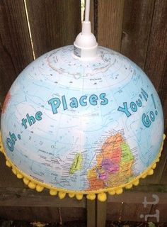 18 of the Best DIY Globe Projects in the World Would be such a cute craft for classroom reading center! Classroom Setting, Classroom Crafts, Classroom Design, Future Classroom, Classroom Themes, Classroom Organization, History Classroom, Reading Corner Classroom, Classroom Map