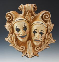 ComedyTragedy Proscenium Plaque by TheArtOfTheMask on Etsy