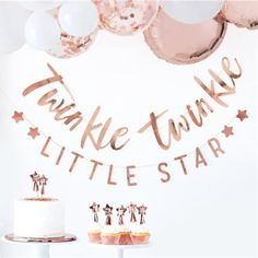 Baby Shower Bunting Backdrop // Rose Gold // Wall Banner //Twinkle Twinkle //Baby Shower Party Decoration // Gender Reveal Party // New Baby Baby Shower Roses, Baby Shower Bunting, Baby Shower Backdrop, Shower Banners, Baby Shower Plates, Gold Baby Showers, Star Baby Showers, Fiesta Baby Shower, Baby Shower Themes