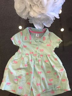 20f9a2ad3 Carter's Girls Blue Pink Bicycle Dress size 12 months Orig.$32 NO RESERVE # fashion