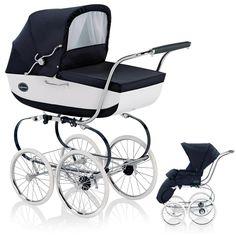 Inglesina Kinderwagen Classica mit Babywanne und Sportwagenaufsatz - VERNICE / BLAU WEIß - 2012