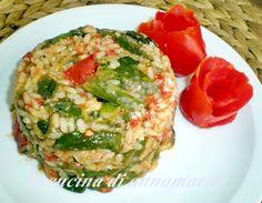 Riso integrale con peperoncini verdi e provola, ricetta primi