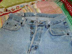 Vintage Distressed 505 Button Down Casucci Jeans 30 X 34 #Casucci #BaggyLoose