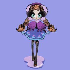 Princess Anna from #frozen by @bigham_illustration