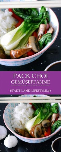 Pak Choi Gemüsepfanne Rezept