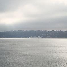 the ferry making its trip to Bainbridge Island #seattle