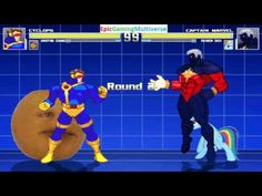 The Annoying Orange And Cyclops VS Captain Marvel & Rainbow Dash In A MUGEN Match / Battle / Fight This video showcases Gameplay of Rainbow Dash From The My Little Pony Friendship Is Magic Series And Captain Marvel The Superhero VS Cyclops The Leader Of The X-Men And The Annoying Orange In A MUGEN Match / Battle / Fight