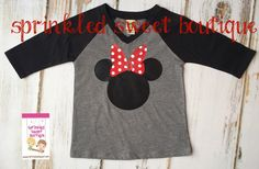 Minnie Mouse Big Bow Ears Inspired Raglan by Sprinkledsweet