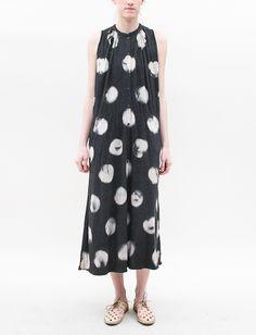Raquel Allegra Sleeveless Jersey Dress- Dot Black