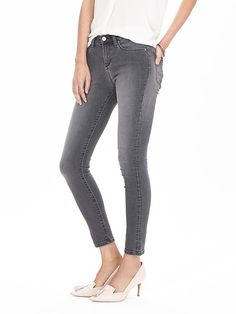 Gray High-Waist Skinny Ankle Jean | Banana Republic
