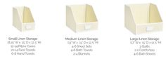 Medium linen closet organizer