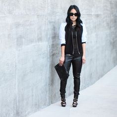 Chic black and white style. Pose by theversastyle