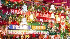 Christmas Decorations at Hill Road Bandra in Mumbay