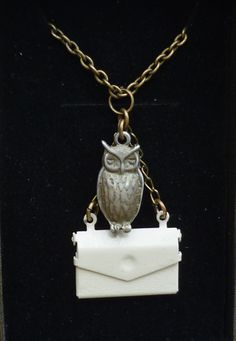 Harry Potter owl necklace.