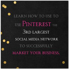 Learn the best tips and secrets for successfully marketing your business or blog on Pinterest here: www.powerofpinning.com/webinar