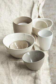 White pottery. Love