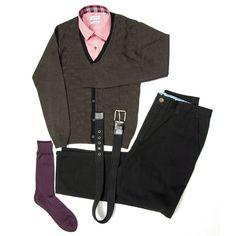 Pantalón casual Gino Gabuchi, Camisa casual Rochas, suéter Emporium, cincho casual Emporium, calcetín Vannucci.