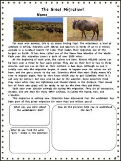 "Get a little ""wild"" as you help your students practice the common core with this fun resource! Your students will learn about wild animals,medicines that come from plants, and even read a folk tale, as they address and review common core standards. Activities address informational text, language skills, literature, and writing. This packet is perfect for test prep or daily practice. $"