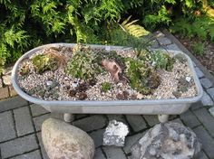 Another zinc tub Antique Bathtub, Garden Art, Shabby Chic, Planters, Rustic, Outdoor Decor, Gardening, Inspiration, Gardens