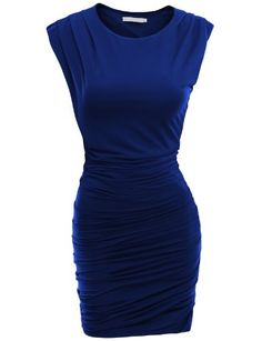 Doublju Fitted Dress with Pointed Shoulder and Shirring BLUE (US-S) Doublju,http://www.amazon.com/dp/B00B93TZ3K/ref=cm_sw_r_pi_dp_HP5fsb1SZY8DYJ1M