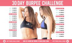 It's time for a new challenge! It's one of the most hated exercises and we're sorry for that. But we have to say that the burpee is incredibly good for you! Burpees, Burpee Challenge, Workout Challenge, Workout Ideas, Getting Back In Shape, Get In Shape, Healthy Women, Get Healthy, Healthy Tips