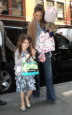 Suri Cruise with her mother Katie Holmes