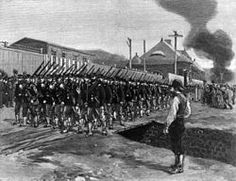 The Homestead Strike, also known as the Homestead Steel Strike, was an industrial lockout and strike which began on June 30, 1892, culminating in a battle between strikers and private security agents on July 6, 1892.