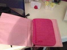 Thirty one Pocket-a-tote in a binder as a pencil holder...or an anything holder! I use mine for my iPad mini.