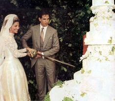 Images Greek Royal Family, Danish Royal Family, Royal Wedding Gowns, Royal Weddings, Marie Chantal Of Greece, Greek Royalty, Royal Marriage, The Royal Collection, Royal Brides