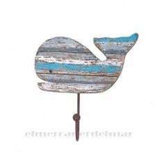 Perchero marinero individual de ballena Whale, Projects To Try, Home Decor, Sailor Style, Nautical Style, Whales, Coat Racks, Beach Houses, Vinyls