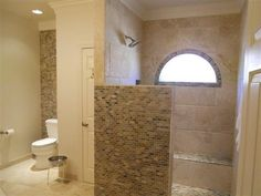 Love the open shower - not the tile so much
