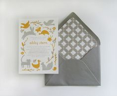 Baby Shower Invites - love the animals!