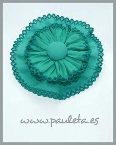 Lazos para el pelo, de color verde agua, este complemento del pelo es ideal para cualquier vestido de la semana