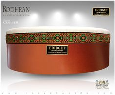 NobleWares Image of 14 inch x 4.5 inch Pro Tunable Bodhran with Straight Bar 14BBPTS by Bridget Drum Company of Canada