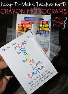 Sweet Crayon Teacher's Gift
