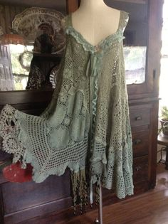 Luv Lucy Vintage Lagoon Crochet Dress BOHOGYPSY by TheVintageRaven, $195.00